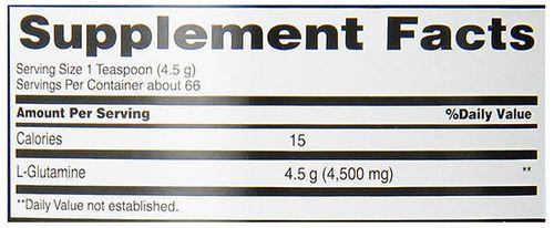 Body Fortress純麩醯胺酸粉成分表