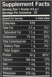 ALLMAX Classic ALLWHEY乳清蛋白的營養量