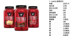 BSN Syntha-6乳清蛋白的營養成分