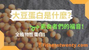 大豆蛋白什麼?| 全植物性蛋白質!素食者的福音!