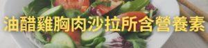 油醋雞胸肉沙拉所含營養素