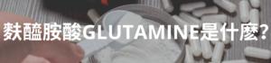麩醯胺酸GLUTAMINE是什麽?