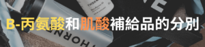 B-丙氨酸和肌酸補給品的分別