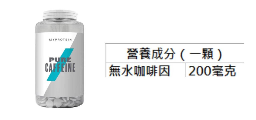 MYPROTEIN Pure Caffeine 營養成分