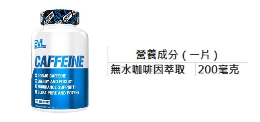 EVLution Nutrition Caffeine 營養成分